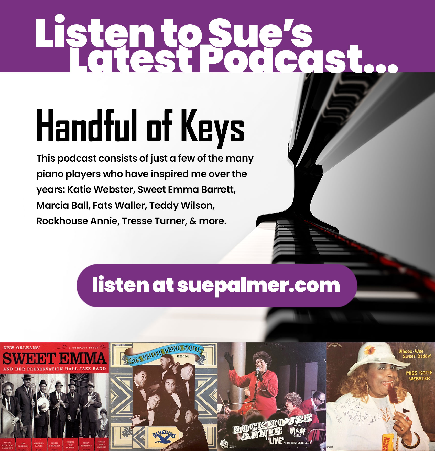 Listen to the Handful of Keys Podcast